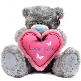 Мишка Тедди держит сердце I love you 41 см (G01W3040)