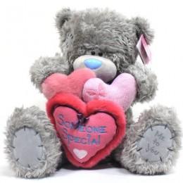 Мишка Тедди Me to you держит 3 сердечка Someone Special 41 см (G01W3041)