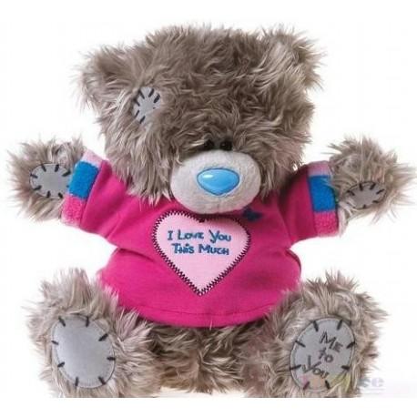 Мишка MTY в футболке I love you 20 см (G01W3045)