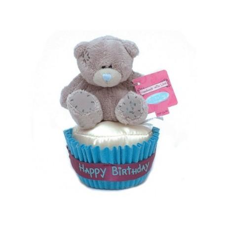 Мишка Teddy на кексе 7,5 см (G01W3047)