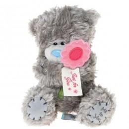Мишка Тедди Me to you держит цветок с надписью Just for you 18 см (G01W3165)