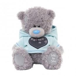 Мишка Тедди в голубой толстовке 18 см (G01W3268)
