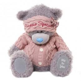 Мишка MTY в розовых свитере и повязке Someone special 40 см (G01W3280)