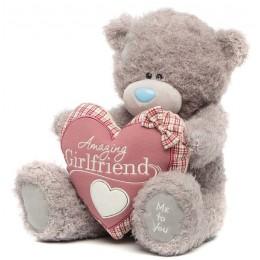 Мишка Teddy держит сердце Amazing Girlfriend 40 см (G01W3281)