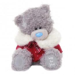 Мишка Тедди в красной накидке 18 см (G01W3334)