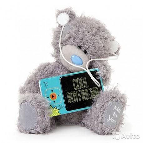 Мишка MTY с плеером Cool boyfriend 18 см (G01W3409)