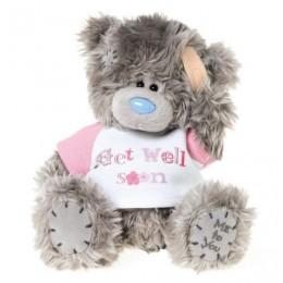 Мишка Тедди в свитерке с надписью Get well soon 18 см (G01W3170)