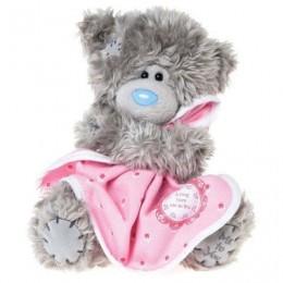 Мишка Teddy с розовым одеялком 18 см (G01W3181)