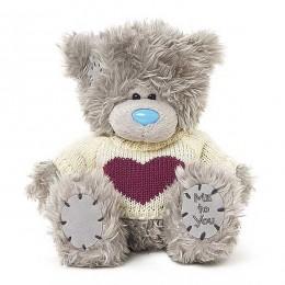 Мишка MTY в кофточке с сердцем 18 см (G01W3747)