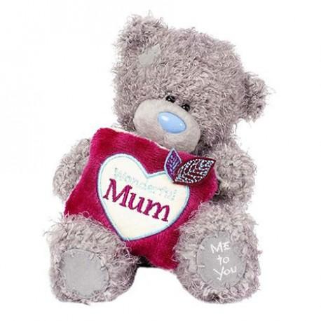 Мишка Ми ту ю с подушкой Wonderful Mum в лапах 18 см (G01W3751)