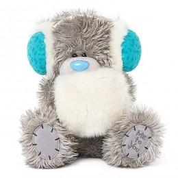 Мишка Тедди Me to you в белой муфте и голубых наушниках 20 см (G01W3753)