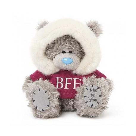 Мишка Тедди Me to you в розовой кофточке с капюшоном BFF 18 см (G01W3764)