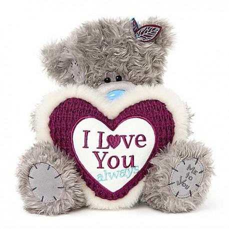 Мишка Митую с сердцем в руках I love you 23 см (G01W3769)