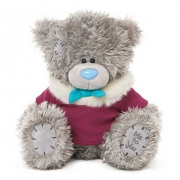 Мишка Тедди Me to you в кофточке с меховым воротником 23 см (G01W3794)