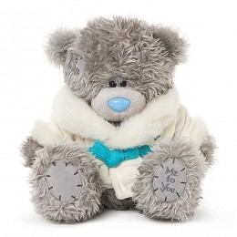 Мишка Тедди в белом халатике 23 см (G01W3757)
