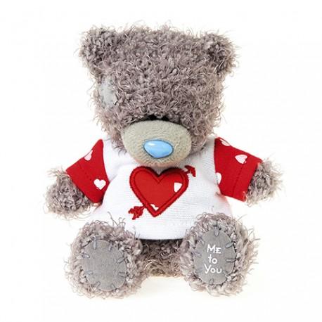 Мишка Тедди Me to you в футболке сердце со стрелой 10 см (G01W3807)