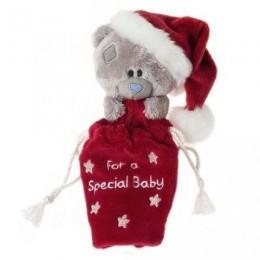 Подарочный новогодний мешочек с Мишкой Тедди для ребёнка 7,5 см (G92Q0113)