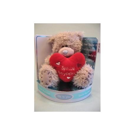 Мишка Тедди с красным сердцем Special Boyfriend 15 см (GYW0583)