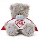 Мишка Teddy в футболке You're my hero 18 см (G01W3814)