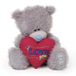 Мишка Me to you с сердцем в лапах I love you 25 см (G01W3429)
