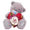 Мишка MTY с новогодним сердцем I love you 30см (G01W3660)