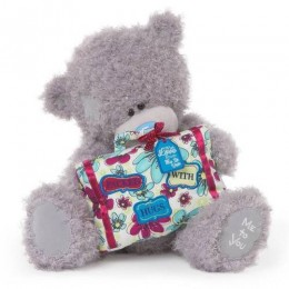 Мишка Тедди с подарком 30 см (G01W3424)