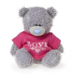 Мишка Тедди в красной рубашке с надписью LOVE 10 см (G01W3559)