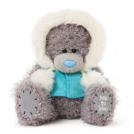 Мишка Teddy в голубой куртке с капюшоном 18 см (G01W3748)