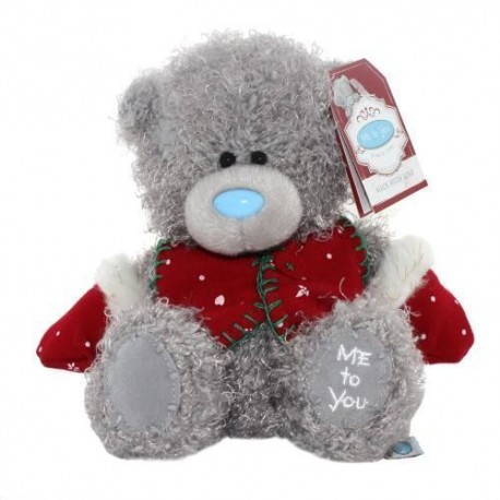 Мишка Me to you в красной жилетке и рукавицах 18 см (G01W3341)