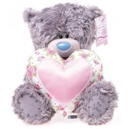 Мишка Тедди с розовым сердцем (G01W2257)