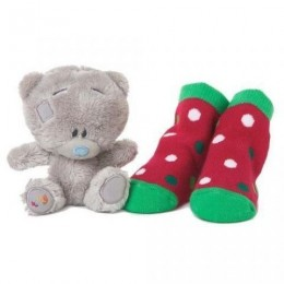 Набор Мишка Tiny Teddy 10 см и детские носочки (G92G0028)