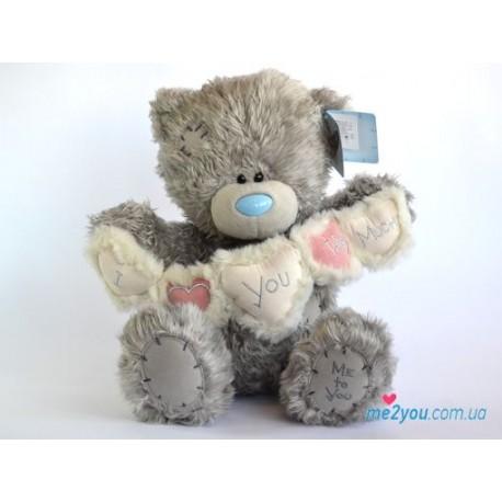 Мишка Тедди с гирляндой из сердечек (G01W1992)