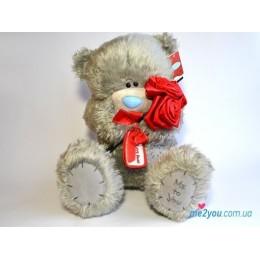 Мишка Тедди с красными розами (G01W2053)
