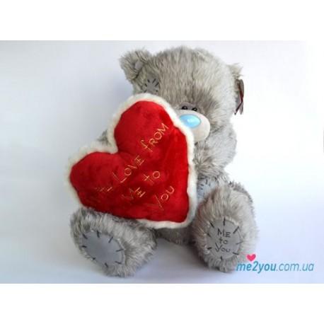 Мишка Тедди с вышитым сердцем (G01W1607)
