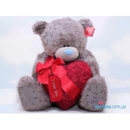 Мишка Me to you держит сердце с лентой (G01W1444)