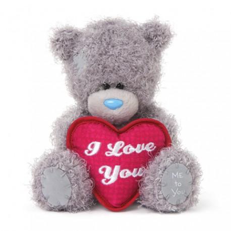 Мишка Митую с красным сердцем I Love You 13 см (G01W3491)