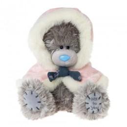 Мишка Тедди Me to you в розовой накидке с капюшоном 18 см (G01W3366)