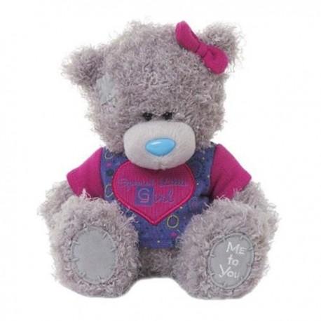 Мишка Тедди в малиновой футболке Special Little Girl 18 см (G01W3368)