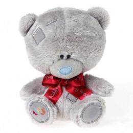 Мишка MTY Тедди с красным бантиком 13 см (G92W0108)