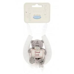 Мишка Митую свадебный на подкове Good Luck 7,5 см (GYW0644)