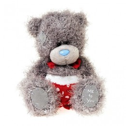 Мишка Ми ту ю в красных трусах и с галстуком-бабочкой 13 см (G01W3810)