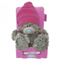 Мишка Teddy в розовой шапке 13 см (G01W3036)