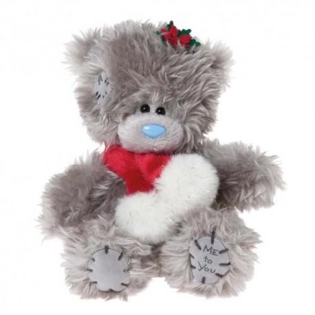 Мишка Me to you с красным шарфом с помпонами 13 см (G01W2748)