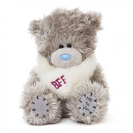 Мишка Тедди в белом шарфике BFF 13 см (G01W3746)