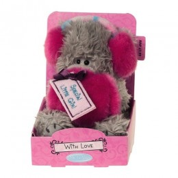 Мишка MTYс розовыми наушниками и муфтой Special Little Girl 13 см (G01W2781)