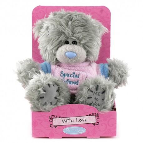 Мишка MTY в розовой футболке Speciel Friend 13 см (G01W2895)