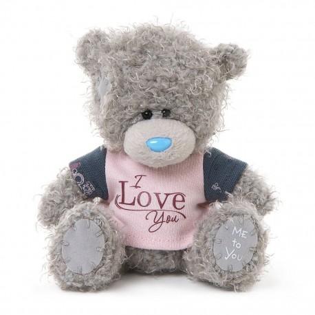 Мишка Митую в футболке I Love You 13 см (G01W3466)