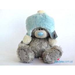 Мишка Тедди в голубой шапочке 25 см (G01W1996)