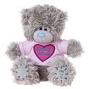 Мишка Teddy в футболке с сердцем Birthday Wishes 13 см (G01W2774)