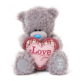 Мишка Тедди с розовым сердцем Love You 18 см (G01W3283)